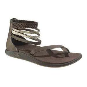 CHACO Women's Dawkins Sandals, Chocolate Brown